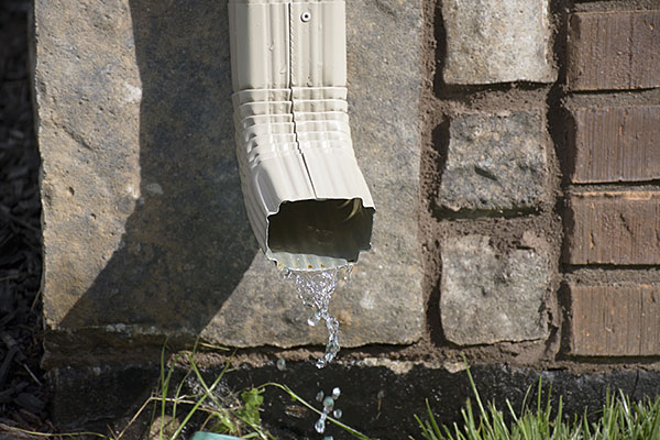 Inspect Downspouts