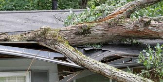 Home with Storm Damage