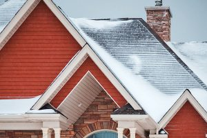 Snowy Shingled Roof